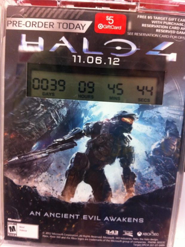 Halo 4 Release 11.06.12 Game Case