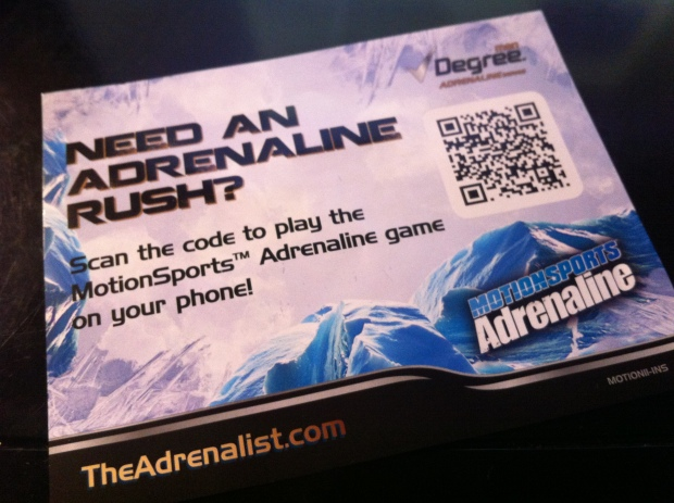 Get Adrenaline Game QR Code Bad Link...