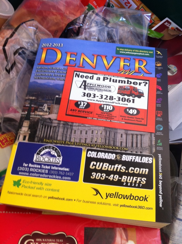 Let's face it, phone book advertising is bust - recycling phone books is the norm.