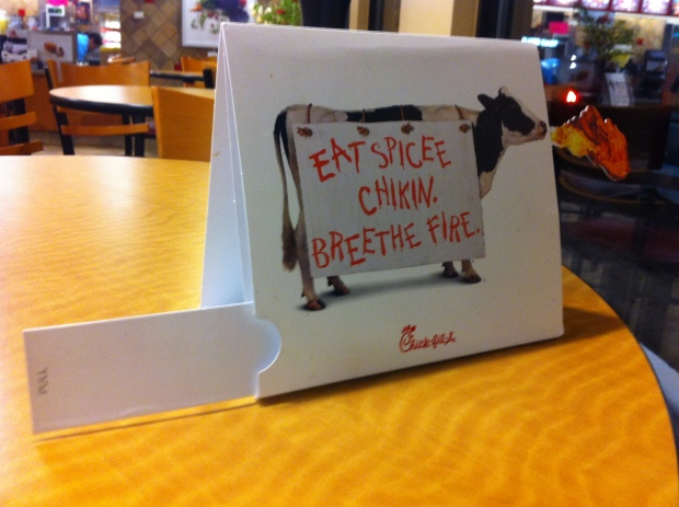 Chick Fil A Marketing Display