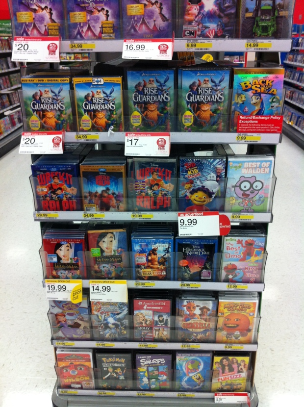 DVD selection Target Marketing